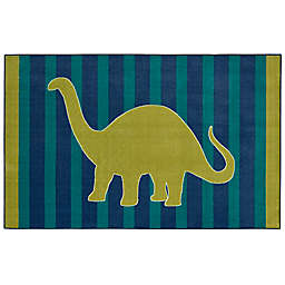 Mohawk Aurora Kids Friendly Dinosaur Area Rug in Blue