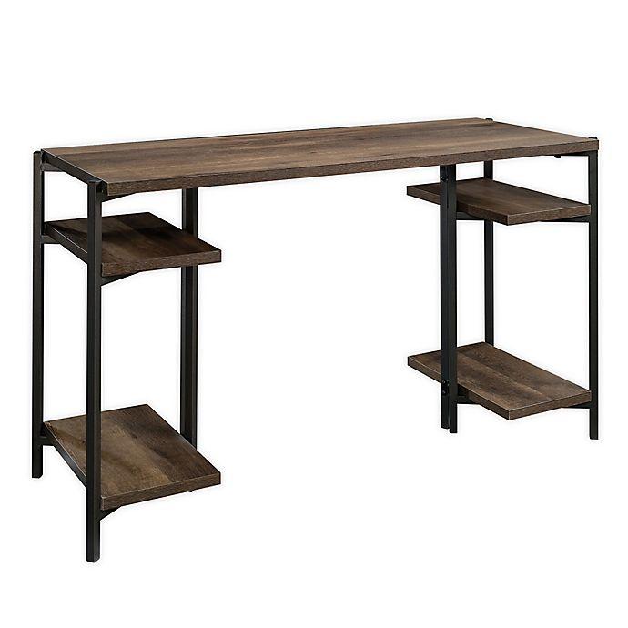 Alternate image 1 for Sauder® North Avenue Wood Desk in Smoked Ash