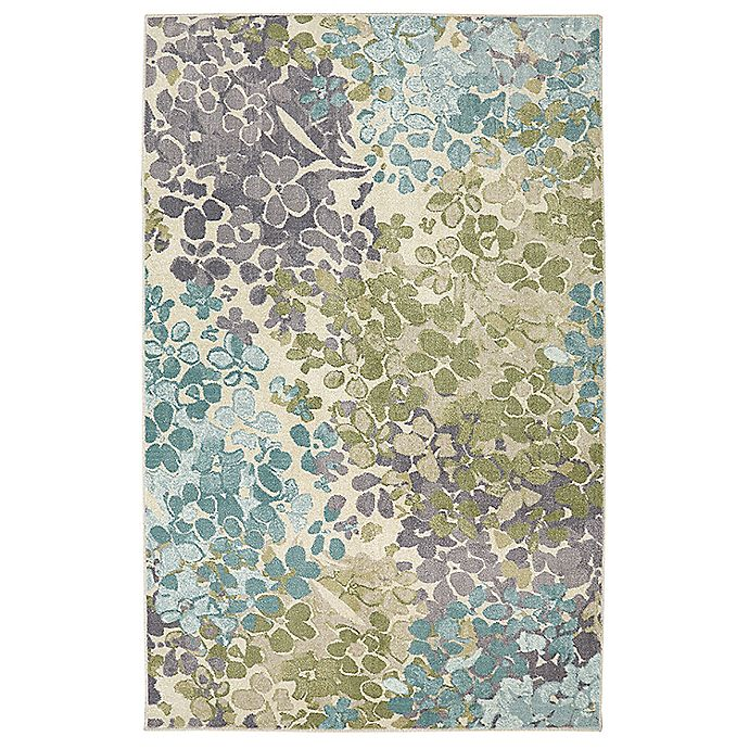 Alternate image 1 for Mohawk Aurora Radiance 6' x 9' Area Rug in Aqua Blue