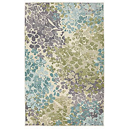 Mohawk Aurora Radiance Area Rug in Aqua Blue