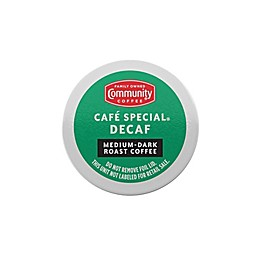 Community Coffee® Cafe Special Decaf Coffee for Single Serve Coffee Makers 24-Count