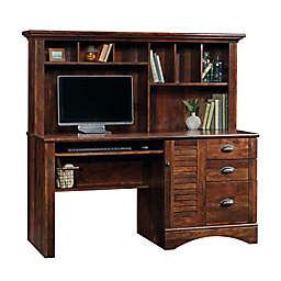 Sauder® Harbor View Computer Desk with Hutch in Curado Cherry