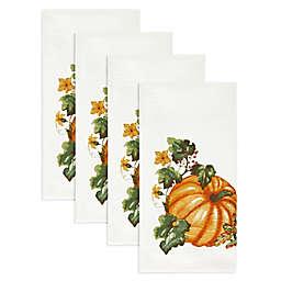 Autumn Medley Pumpkin Napkins (Set of 4)