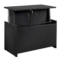 Sauder® Via Adjustable Height Desk in Bourbon Oak