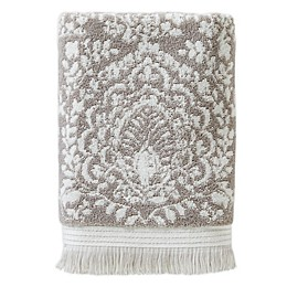 Carrick Medallion Bath Towel in Taupe