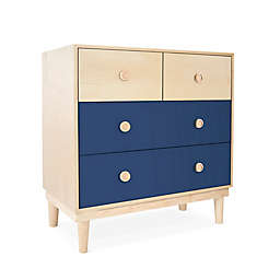 Nico & Yeye Lukka Kids 4-Drawer Dresser in Deep Blue/Maple