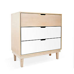 Nico & Yeye Kabano Kids 3-Drawer Dresser in White/Maple