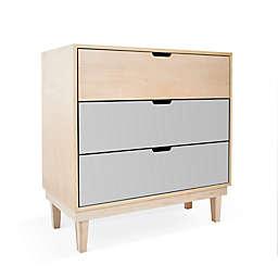Nico & Yeye Kabano Kids 3-Drawer Dresser in Grey/Maple