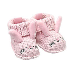goldbug Newborn Crochet Knit Bunny Bootie in Pink