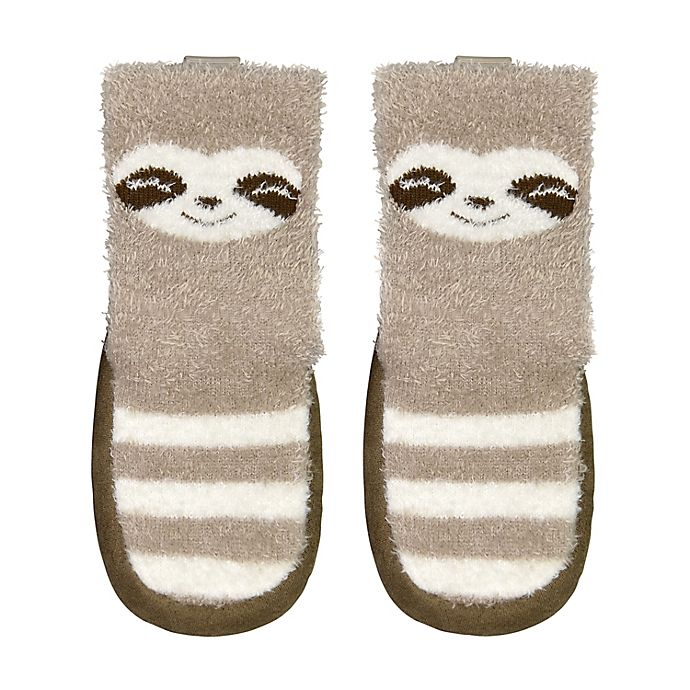 Alternate image 1 for goldbug® Size 18-24M Sloth Slipper in Brown