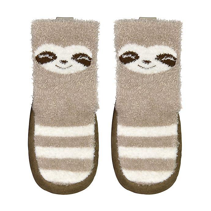 Alternate image 1 for goldbug® Size 12-18M Sloth Slipper in Brown
