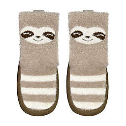 goldbug® Size 0-6M Sloth Slipper in Brown