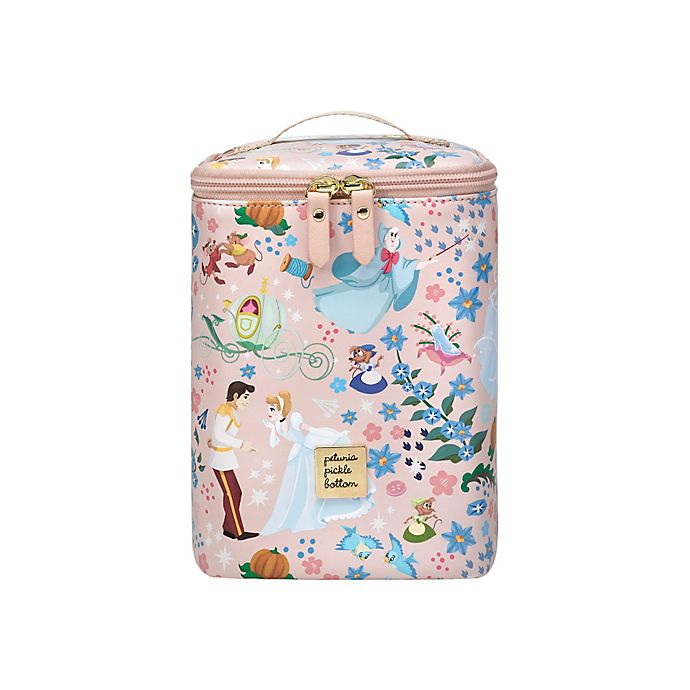Alternate image 1 for Petunia Pickle Bottom® Disney® Cinderella Cool Pixel Plus Bottle Bag in Pink