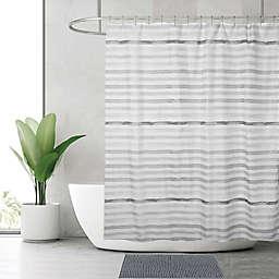 Indecor Watercolor Stripe 4-Piece Bath Set in Grey
