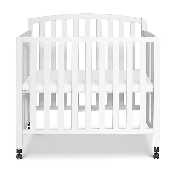 Alternate image 1 for DaVinci Dylan 3-in-1 Convertible Mini Crib in White