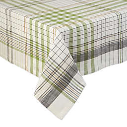 DII Herb Garden Plaid Tablecloth in Green/Beige