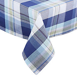 Lakeside Plaid 60-Inch x 84-Inch Oblong Tablecloth in Blue/White
