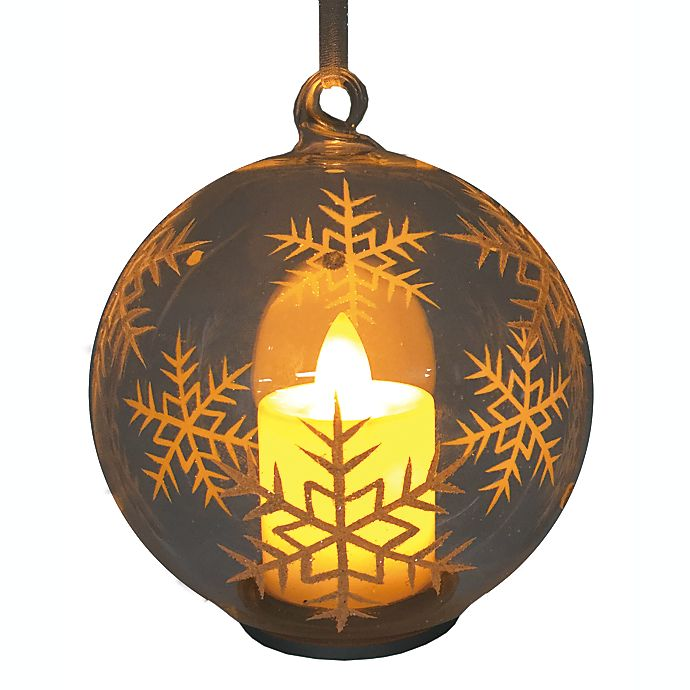 Alternate image 1 for 4-Inch Candle Snowflake Ornament