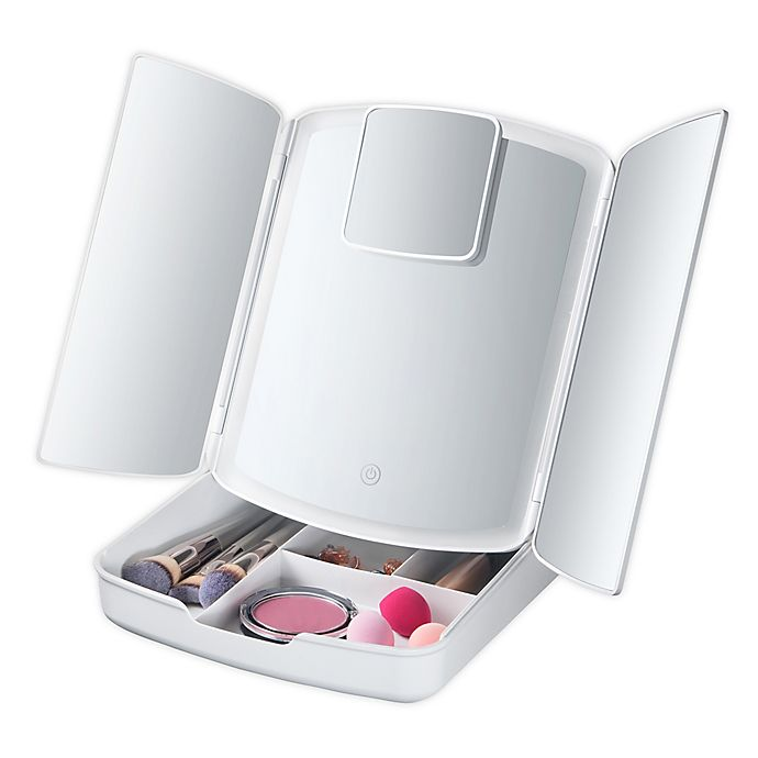 Alternate image 1 for My Foldaway Lighted Makeup Mirror