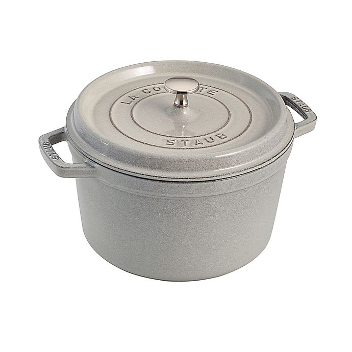 Staub 5 Qt Tall Cocotte In White Truffle Bed Bath And Beyond Canada