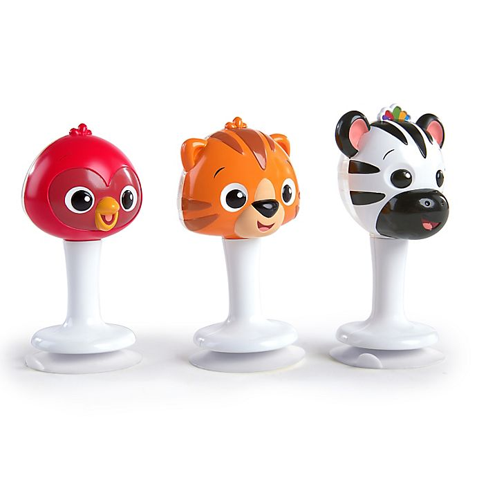 Alternate image 1 for Baby Einstein™ Rattle & Jingle Trio™ Take-Along Toy RattleSet