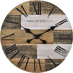 FirsTime & Co.® Farmhouse Pallets 18-Inch Wall Clock in Brown