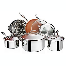 Gotham™ Steel Nonstick Stainless Steel 10-Piece Cookware Set