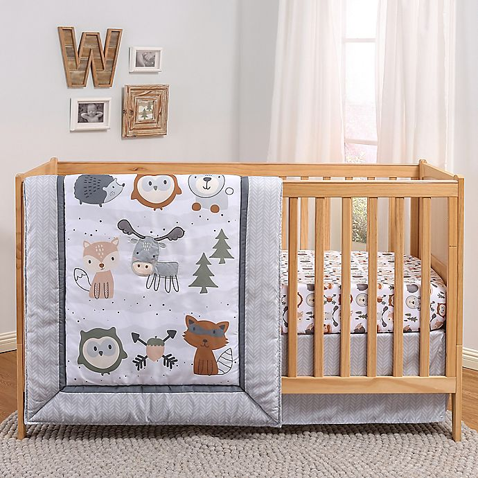 Alternate image 1 for The Peanutshell™ Woodland Walk 3-Piece Crib Bedding Set
