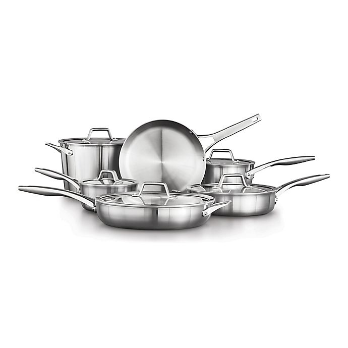Alternate image 1 for Calphalon® Premier™ Stainless Steel 11-Piece Cookware Set