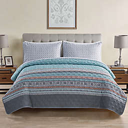 VCNY Home Orane 4-Piece Twin XL Quilt Set in Teal