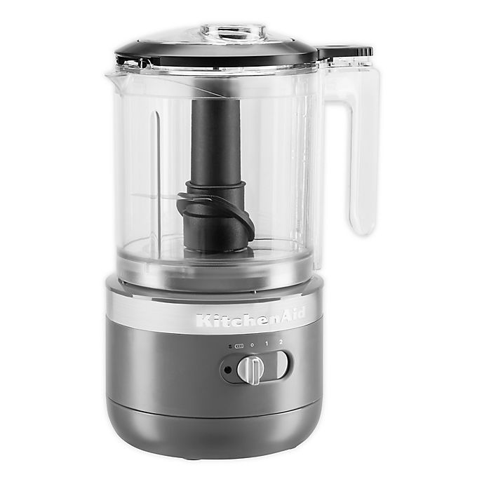Alternate image 1 for KitchenAid® Cordless 5 Cup Food Chopper in Charcoal Grey
