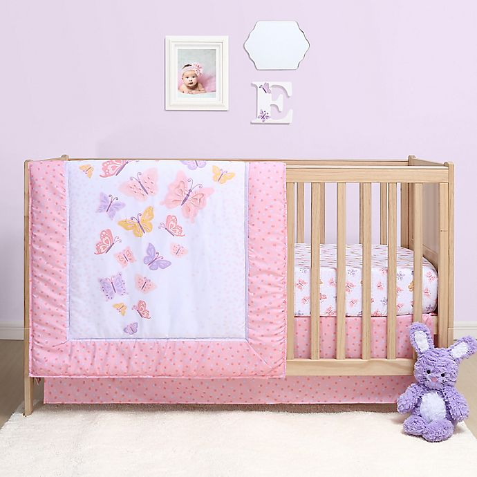 Alternate image 1 for The Peanutshell™ Butterfly 3-Piece Crib Bedding Set