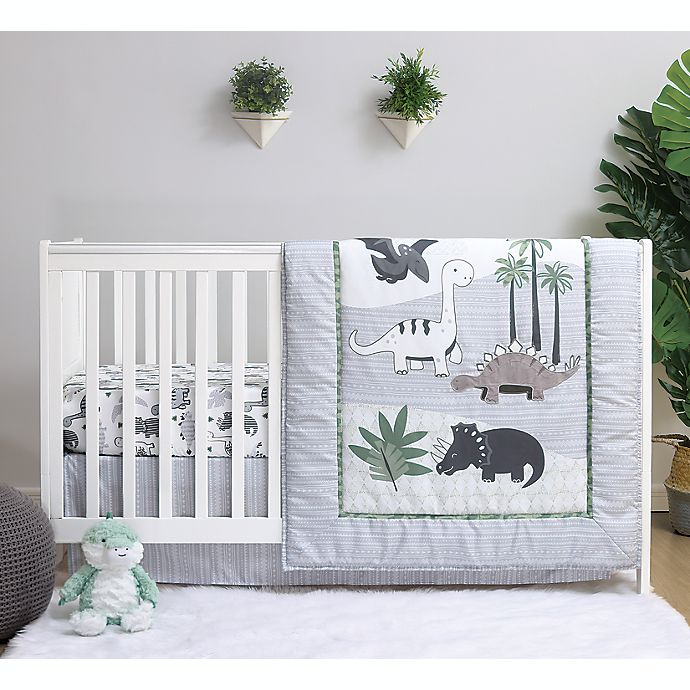 Alternate image 1 for The Peanutshell™ Dinosaur 3-Piece Crib Bedding Set