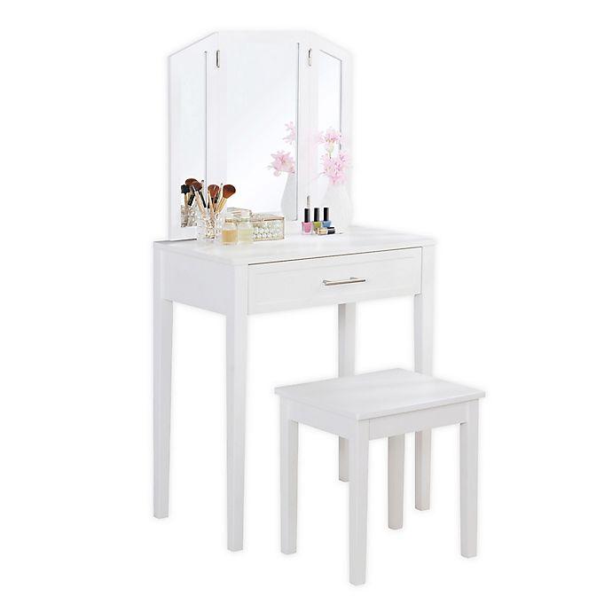 Alternate image 1 for Linon Home Madison Vanity Set in White