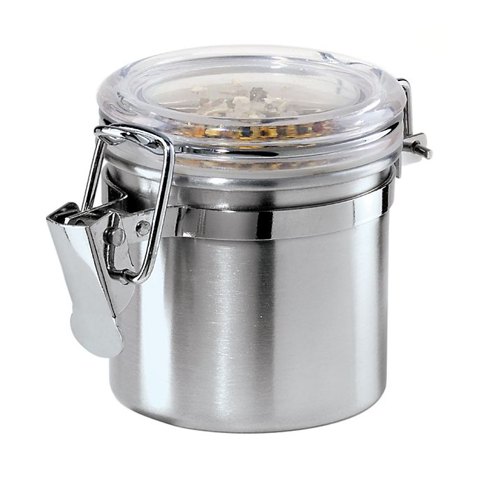 Alternate image 1 for Oggi™ Brushed Stainless Steel Mini Clamped Canister