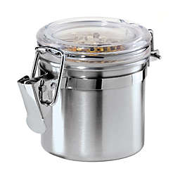 Oggi™ Brushed Stainless Steel Mini Clamped Canister