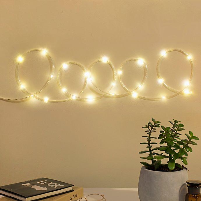 Alternate image 1 for Kikkerland® 10-Foot LED Rope String Lights in Silver