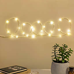 Kikkerland® 10-Foot LED Rope String Lights in Silver
