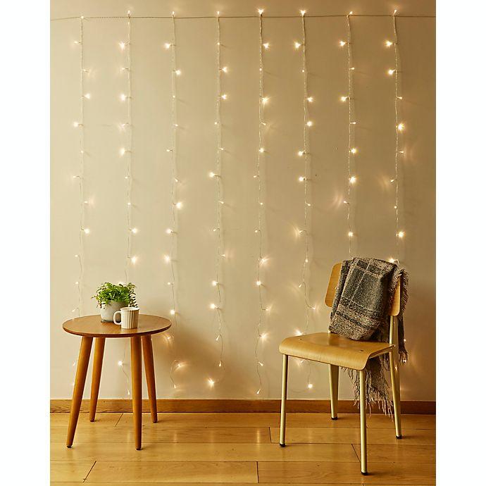Alternate image 1 for Kikkerland® 150-Light LED Curtain String Lights in Warm White