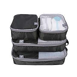Travelon® 4-Piece Soft Packing Organizer Set in Black