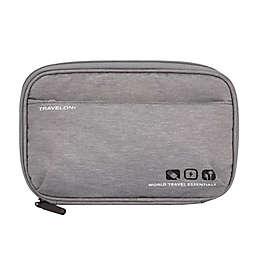 Travelon® World Travel Essentials Tech Organizer in Grey Heather