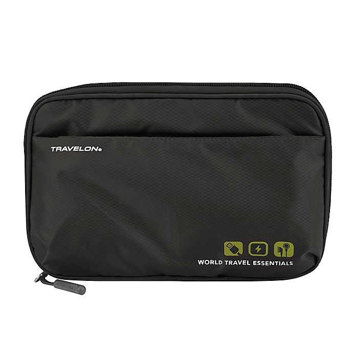 Alternate image 1 for Travelon® World Travel Essentials Tech Organizer