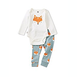 Tea Collection Foxes 2-Piece Bodysuit Set in White