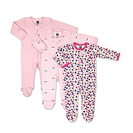 PS by The Peanutshell® 3-Pack Dots and Ballet Long Sleeve Sleepers