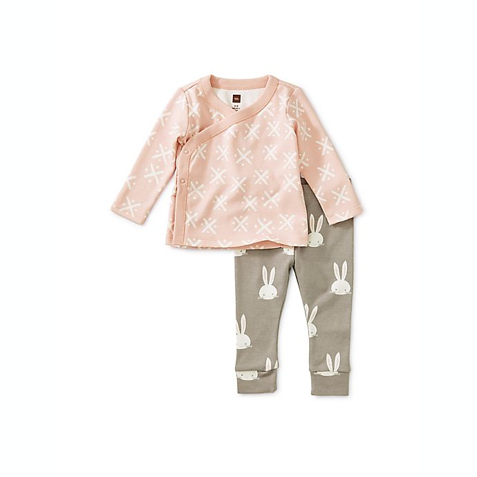 Alternate image 1 for Tea Collection Soft Geo 2-Piece Wrap Top Baby Outfit