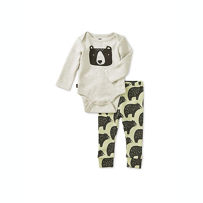 Alternate image 1 for Tea Collection Cuddly Cubs 2-Piece Bodysuit Set