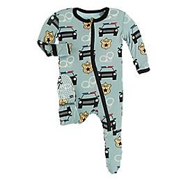 Kickee Pants® Law Enforcement Footie Pajama in Jade