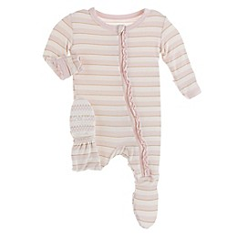 KicKee Pants® Everyday Hero Stripe Footie Pajama in Pink