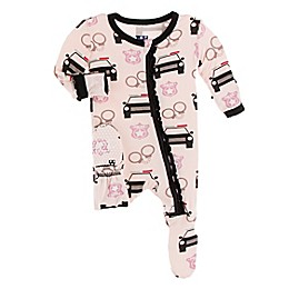 KicKee Pants® Law Enforcement Footie Pajama in Pink