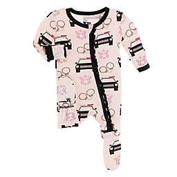 KicKee Pants® Law Enforcement Footie Pajama in Pink